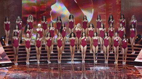 Le finaliste di Miss Italia 2018 (Ansa)