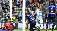 Il gol di Petagna all'Atalanta