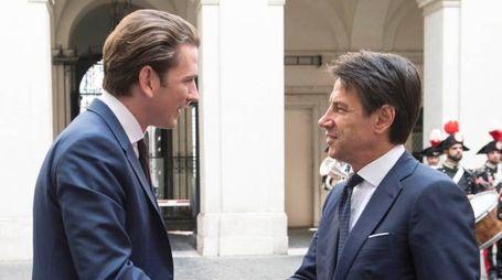 Sebastian Kurz e Giuseppe Conte (Lapresse)