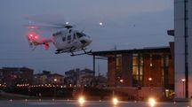 L'elicottero attrezzato per volare in notturna