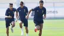 La Juve in allenamento (Ansa)