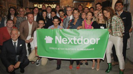 La festa a Milano per il lancio di Nextdoor (foto NewPress)