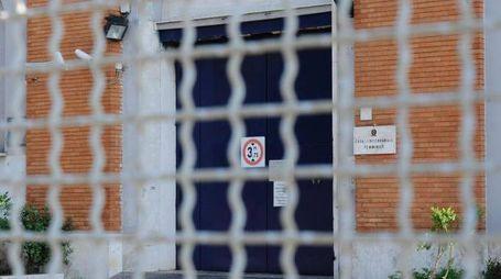 L'ingresso della sezione femminile del carcere di Rebibbia (Ansa)