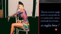 Belen in una foto dal suo profilo Instagram e un frame della story di Iannone