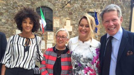 Sara Gama, Donatella Cinelli Colombini, Cristina Conforti e Gioacchino Bonsignore
