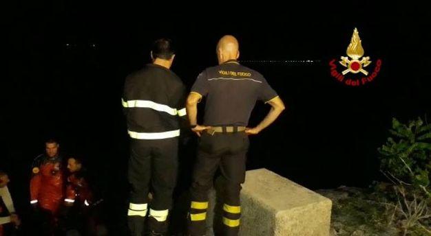 Recupero di un cadavere nel lago di Bilancino (Firenze)