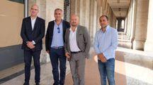 Da sinistra Orazio Pennisi, Silvano Arcamone, Davide Drei e Antonio Milioti (foto Frasca)
