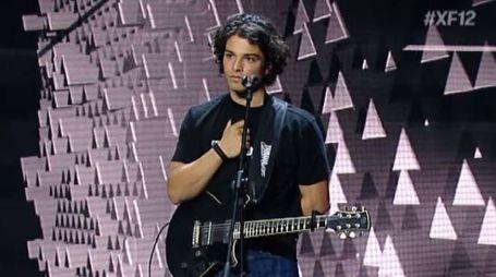 Leo Gassman sul palco di 'X Factor' 2018