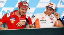 MotoGp Aragon, Andrea Dovizioso (sx) e Marc Marquez (Ansa)