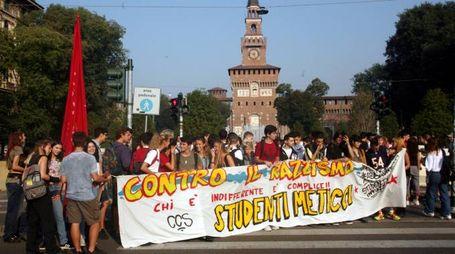 Corteo antirazzista degli studenti