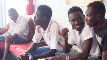 Alcuni dei migranti accolti a Castelnuovo due anni fa