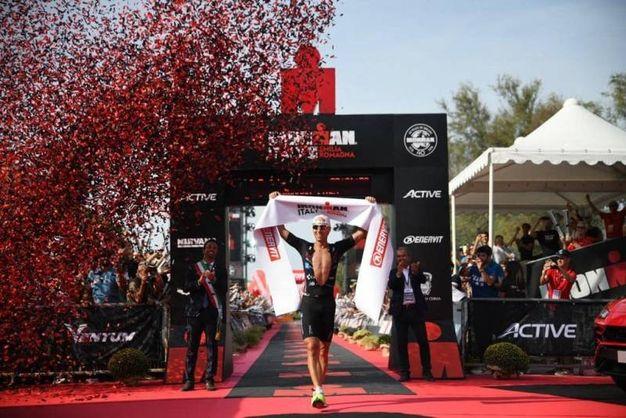 Il vincitore di Ironman 2018: Andi Boecherer (Germania)