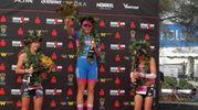 Ecco il podio femminile di Ironman 2018: 1) Daniela Saemmler 2) Gabriella Zelinka 3) Bianca Steurer