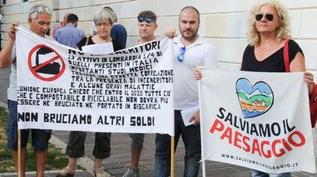 Una protesta anti-inceneritore