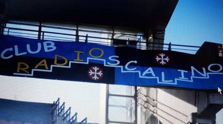 Lo striscione scomparso del Club Radio Scalino