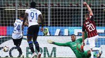 L'azione del gol di Rigoni contro il Milan