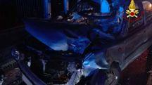 L'auto dopo l'incidente