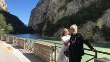 Wim Wenders con la moglie Donata