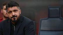 Gattuso durante Milan-Atalanta