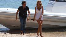Valeria Marini con il fidanzato Patrick Baldassarri