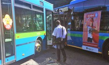 Incidente tra bus a Gazzaniga