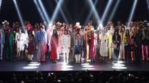 Gucci, foto di gruppo alla sfilata di Parigi (Getty Images for Gucci)