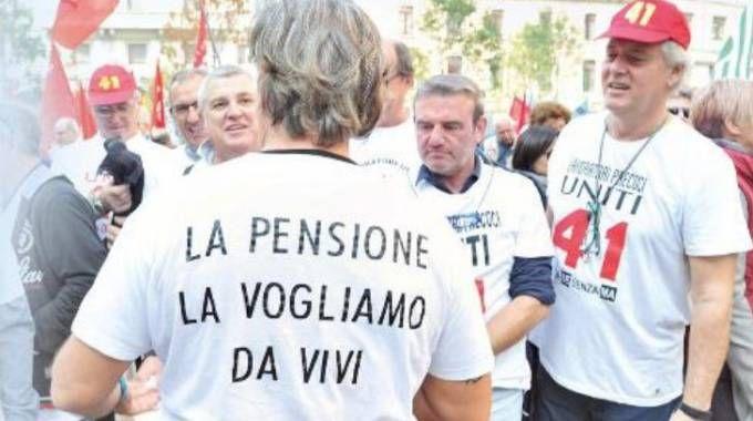 Una manifestazione di pensionati