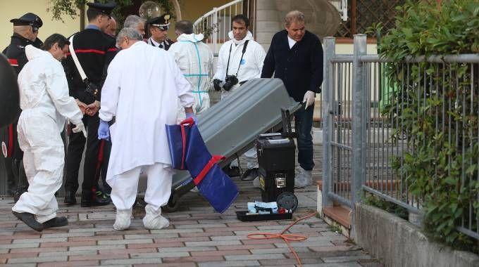 Omicidio nella notte a Castiglione di Cervia (foto Zani)