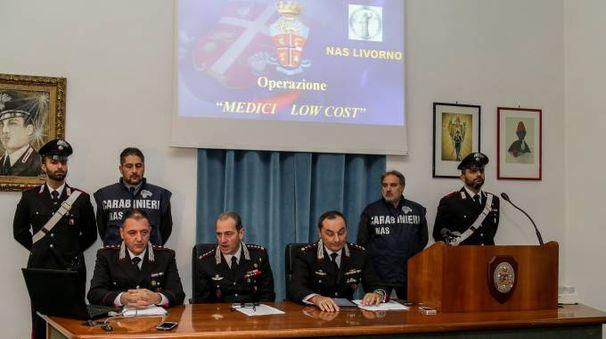 La conferenza stampa sugli arresti (foto Salvini)