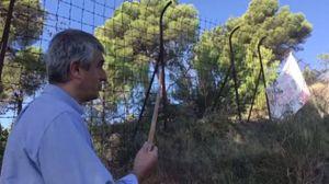 Ventimiglia, la rete al confine francese