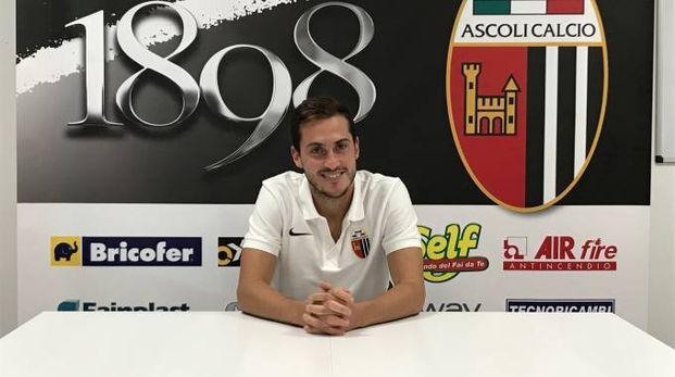 L'attaccante dell'Ascoli Simone Ganz allo Zaccheria è riuscito a sbloccarsi