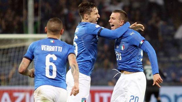 Bernardeschi esulta dopo il gol all'Ucraina (LaPresse)