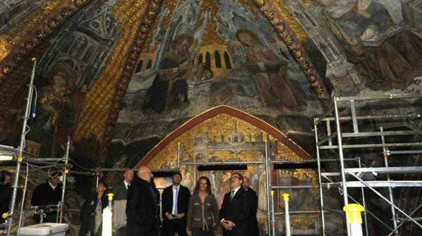 Maroni e gli assessori regionali visitano la cappella Teodolinda