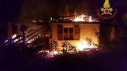 Bolognola, fiamme nella notte