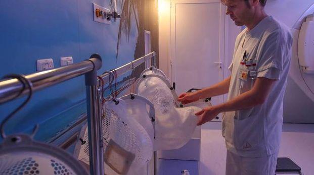 OSPEDALE DI MURAGLIA L'interno dell'ospedale,  per l'esattezza il reparto di Radioterapia,  in una foto recente