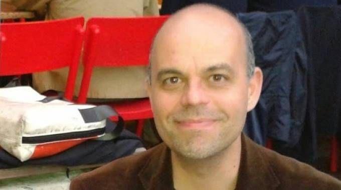 Il libraio Beppe Marchetti, 40 anni