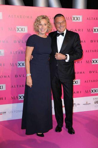 Jean Christophe Babin e Giovanna Melandri (Olycom)