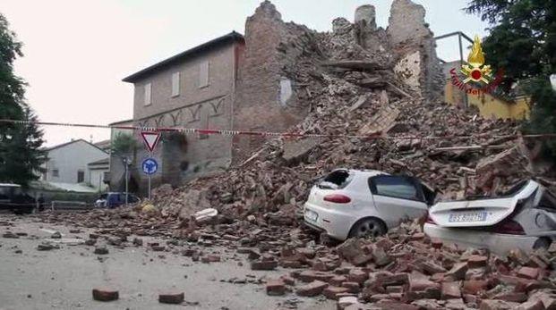 Gli effetti del sisma a Finale Emilia