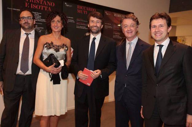 Salvatore Nastasi, Agnese Renzi, Dario Franceschini, Francesco Bianchi e Dario Nardella (foto Gianluca Moggi/ New Press Photo)