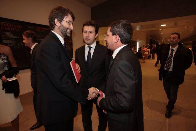 Il ministro Dario Franceschini, con il sindaco Dario Nardella e il procuratore capo Salvatore Creazzo (foto Gianluca Moggi/ New Press Photo)