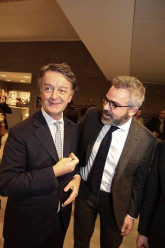 Il sovrintendente Francesco Bianchi con il presidente della Camera di Commercio di Firenze Leonardo Bassilichi  (foto Gianluca Moggi/ New Press Photo)
