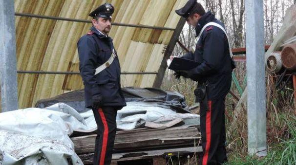 I carabinieri mettono sotto sequestro l'area