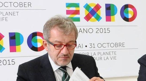 Il governatore della Lombardia Roberto Maroni (Newpresse)