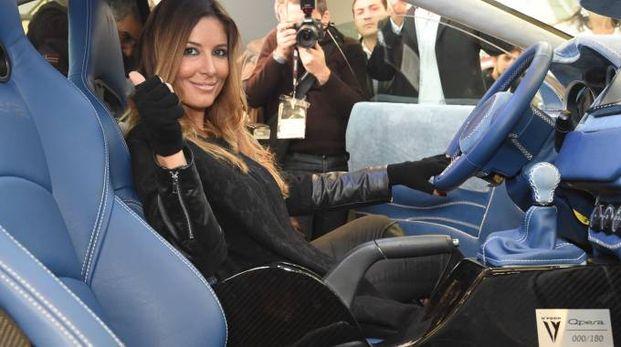 Selvaggia Lucarelli al Motor Show (foto Schicchi)