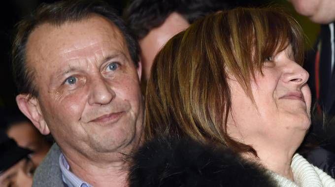 I genitori di Chiara Poggi al termine della lettura dell sentenza che ha condannato Alberto Stasi