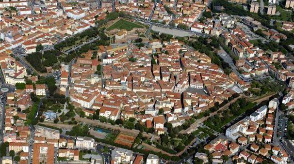 Il centro storico di Grosseto visto dall'alto