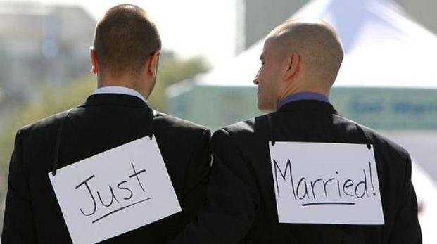 Un matrimonio gay (foto di repertorio)