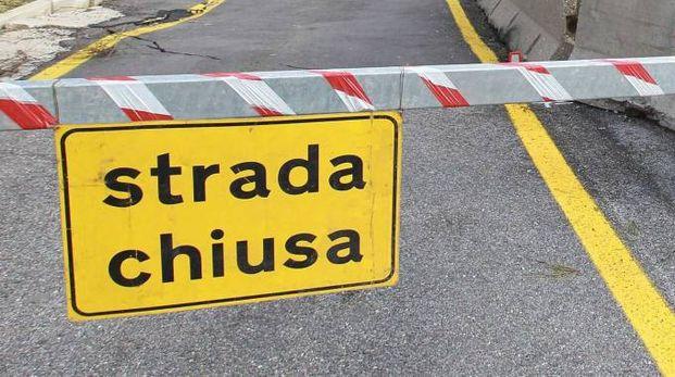 Strada chiusa (Foto di repertorio Germogli)