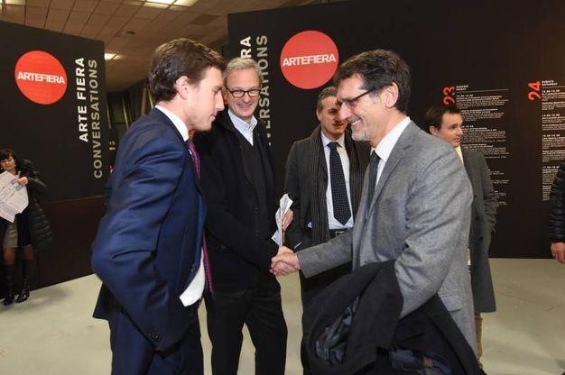 Bruno Riffeser Monti e il sindaco di BolognaVirginio Merola