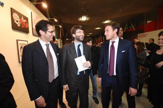 Pierluigi Masini, il ministro Franceschini e Bruno Riffeser Monti